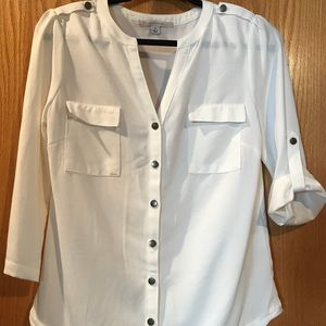 Blouse from Stitch Fix - off white button up - S